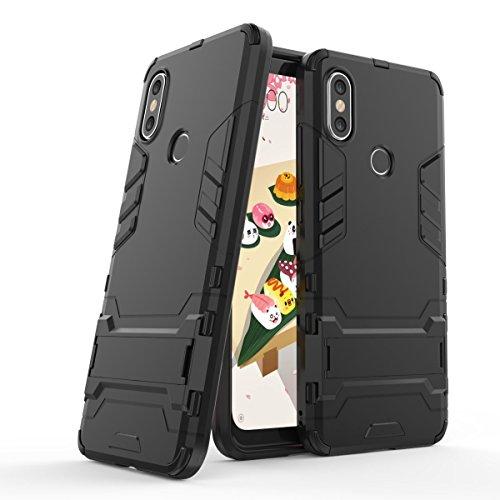 """Max Power Digital Funda para Xiaomi Mi A2 / 6X (5.99"""") con Soporte - Carcasa híbrida antigolpes Resistente (Xiaomi Mi A2, Negro)"""