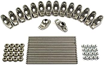 New Rocker Rockers Arms, Nuts, Balls & Push Rods Set compatible with 1955-1986 Chevy sb 400 350 327 307 305 302 283 267 265 262