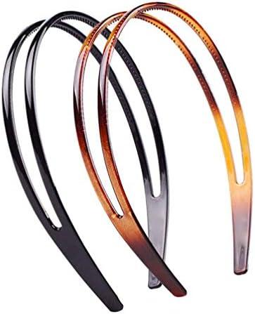 SALOCY Teeth Comb Hairband Double Row Headbands Plastic Headband Hair Hoop for Women 2Pcs product image
