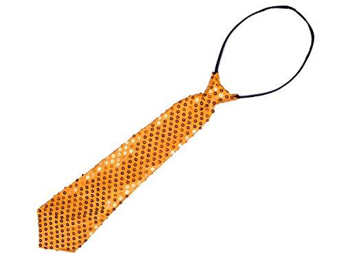 Cravate Paillettes sequins brillants (63/2663), le noeud est déjà fait Convenable pour adultes et enfants Longueur environ 33 cm Ajustable grace à un sytème à glissière très chic accessoire, choisir:63/2663 or