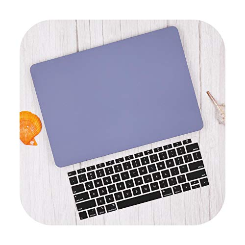 PrettyR Matte & Crystal Hard Shell Case & Keyboard Cover For 2020 Macbook Pro 13 16 TouchBar A2289 A2159 Air 13 A1932 2020 A2179-Lavender gray-12 INCH A1534