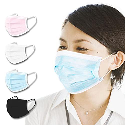 大きめマスク ビッグマスク LLサイズマスク 使い捨てマスク 200mm*95mm 99%カット 10枚入り ピンク pink [並行輸入品]
