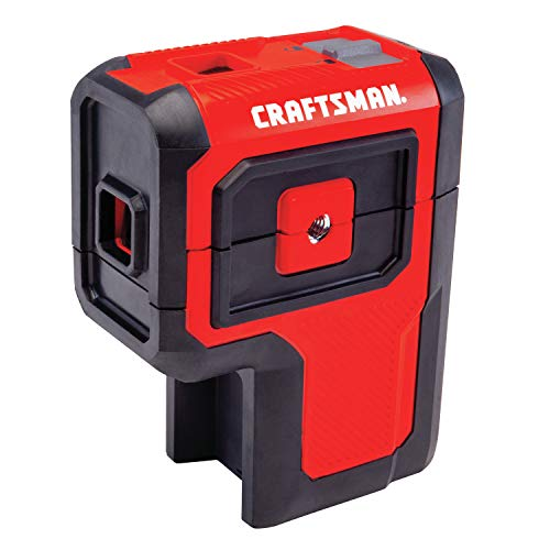 CRAFTSMAN Laser Level Tool, Red, 3 Spot (CMHT77632)