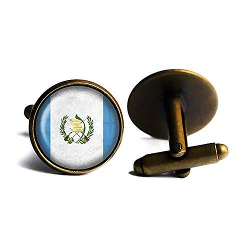 Republic of Guatemala Guatemalan Flag Flagge Antike Bronze Manschettenknöpfe
