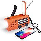 [2021upgrade] 5000mAh Emergency Radio with Solar and Hand Crank Dynamo Charger Portable AM FM Weather Alert NOAA Multi-Band Radio...
