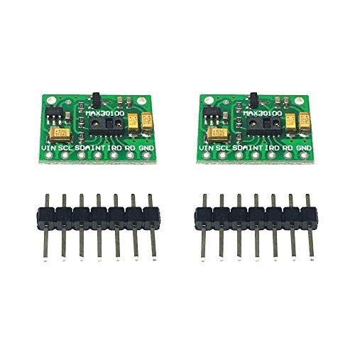 Loriver 2X MAX30100 Heart Rate Pulse Oximeters Development Board Sensor For Arduino