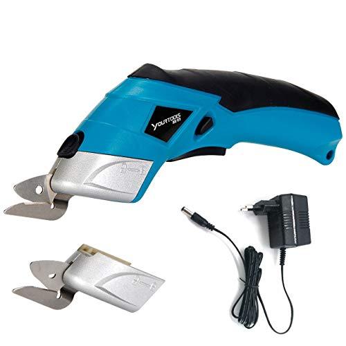 Ba30DEllylelly Tijeras eléctricas para tela, cortador de caja, tijeras inalámbricas, herramienta de corte para manualidades, costura, cartón, álbum de recortes CS4001 1#