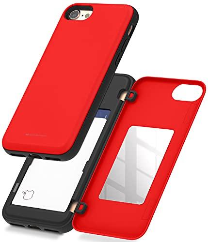 Goospery IP8-MDB - Funda tipo cartera para iPhone 8, iPhone 7 con tarjetero, doble capa protectora