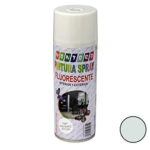 Montoro - Bote de pintura en spray Base Blanco Fluorescente F207 400 ml