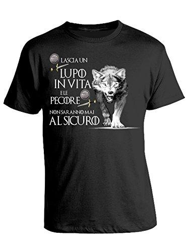Tshirt Game of Thrones - Lascia Un Lupo in Vita e Le Pecore Non saranno mai al Sicuro - Il Trono di Spade