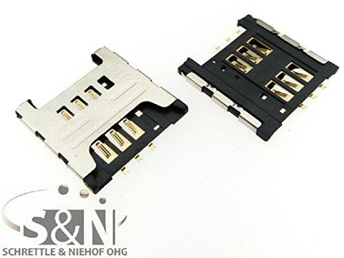 NG-Mobile Simkarten SIM Karten Leser Pins für Samsung Galaxy Note GT-N7000