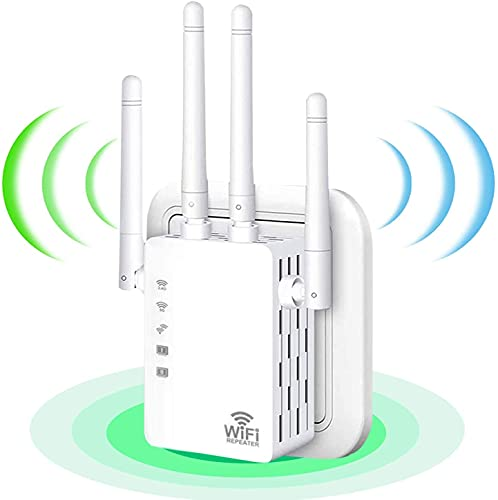 2021 WiFi Range Extender 1200Mbps, Wireless Signal Repeater Booster 2.4 & 5GHz Dual...