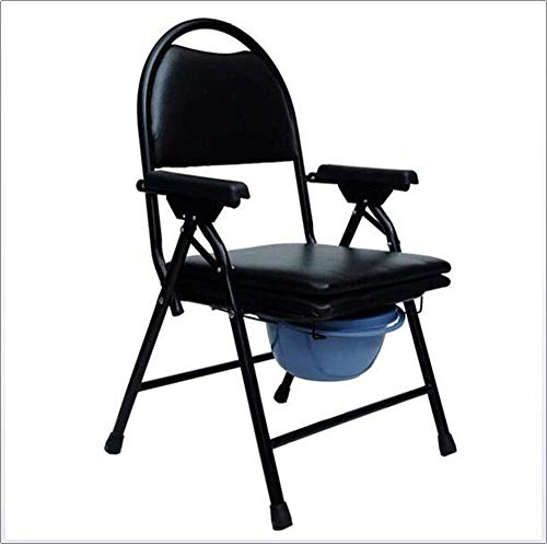 Bathroom Wheelchairs RRH Bedside Commodes Wheelchairs Deluxe Commode Chair,Foldable Drop-Arm Commode Medical Aid Elderly Handicapped People Pregnant Women Medical Chair Rehab Chair