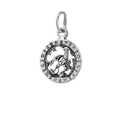 NKlaus Silber 925er Sterlingsilber Ketten Anhänger Horoskop Sternzeichen Krebs 6320