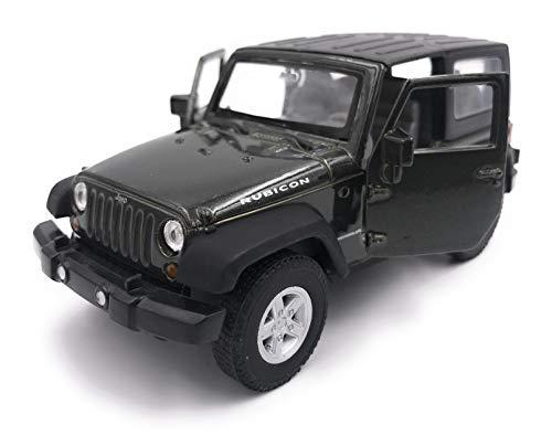 H-Customs Jeep Wrangler Rubicon Modellauto Auto Lizenzprodukt 1:34-1:39 Schwarz zu