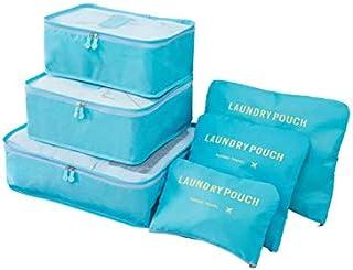 6 قطع / مجموعة شنط السفر المقاومة للماء لتخزين الملابس مرتبة، شنطة للمنزل للتنظيم - 2724646800524