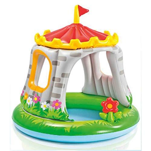 ZhengELE Inicio Uso de bebé niños Mini Inflable Shade con Piscina Castle Juguetes Cubierta de Agua al Aire Libre con Equipo de Juegos Cubierta Suave
