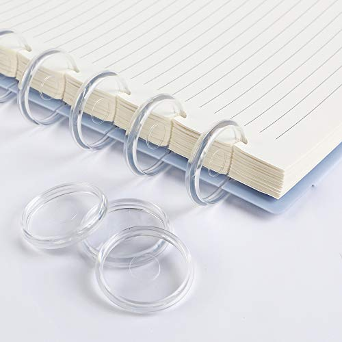 Eagle Discbound Expansion Discs, 1 Inch, Suitable for Customizable Discbound Notebooks and Planners, Plastic, Clear, Pack of 11(Transparent)