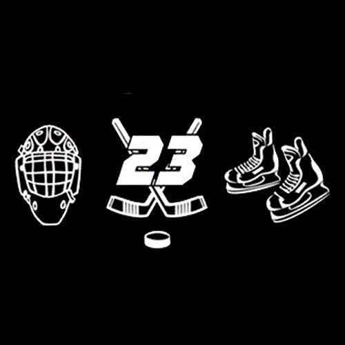 2Pcs/Autotattoos Sexy Mode Sport Eishockey Persönlichkeit Auto Aufkleber Schwarz Silber 14,5 Cm * 6,2 Cm