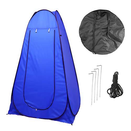 Vinteky 120x120x190cm Acampar Tienda de Ducha Vestuario Impermeable Camping Desplegable Pop Up, Tienda de Campaña Portátil para Privacidad al Aire Libre, Azul (Azul)