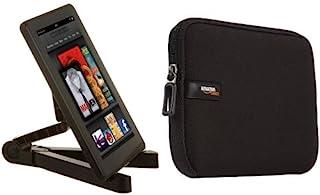 """Amazon Basics Support de tablette réglable & Housse en néoprène pour tablette iPad mini/Samsung Galaxy 8"""" - Noir"""