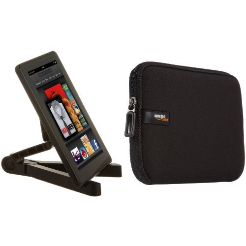 Amazon Basics Tablet-Ständer, verstellbar und Schutzhülle für iPad Mini / Samsung Galaxy Tablet, 20,3cm (8Zoll)