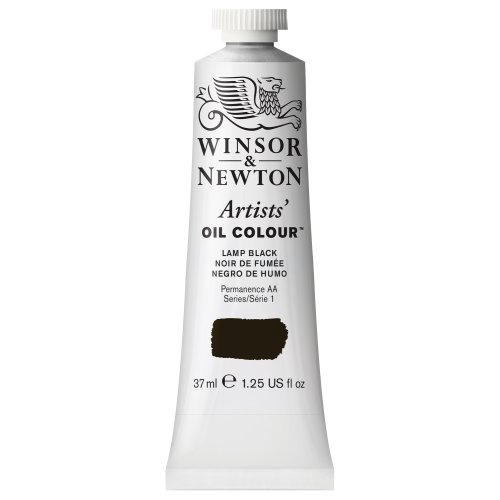 Winsor & Newton Artists' Oil Color Paint, 37-ml Tube, Lamp Black