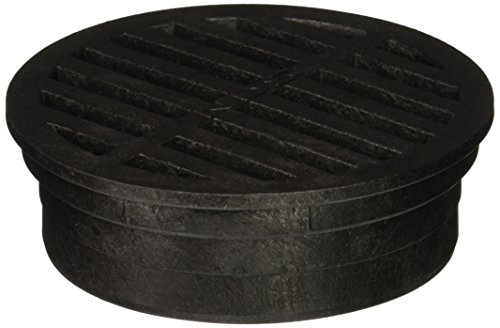 NDS 11 Round Grate, 4-Inch, Fits 4 in. Drain Pipes & Fittings, Black Plastic