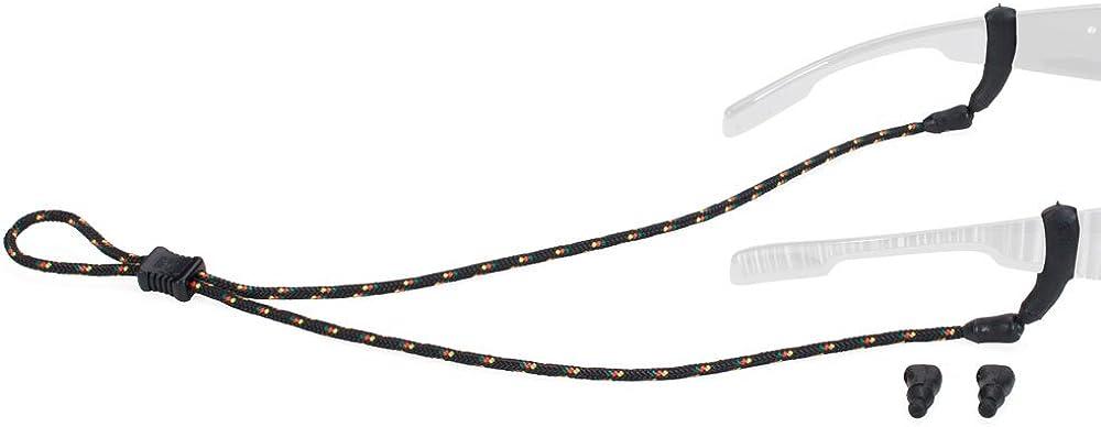 Croakies Terra System Adjustable Eyewear Retainer Combo, Tite Ends/XL Tite Ends, Black/Rasta
