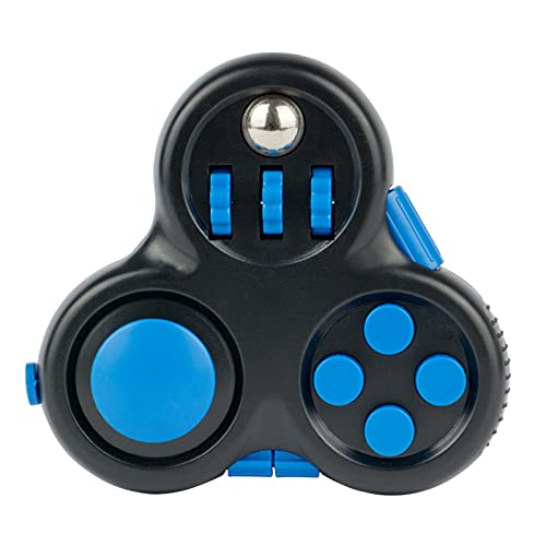 Fidget Controller Pad Cube Fidget Pad with 8-Fidget Functions Premium Quality Fidget Game Focus Toy for ADD/ADHD Kids Adults (Blue)