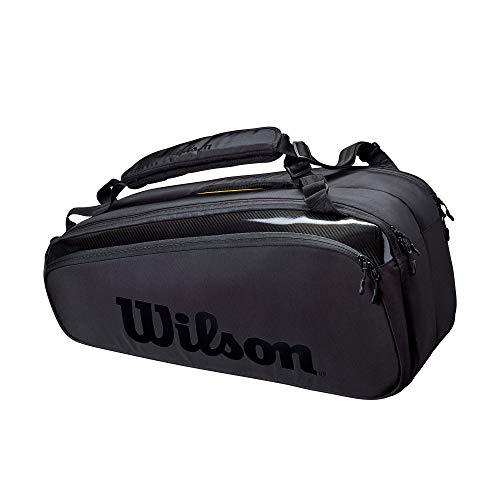 Wilson Sporting Goods Unisex-Erwachsene SUPER TOUR 9 PK PRO STAFF BLACK Tasche, schwarz, No Size