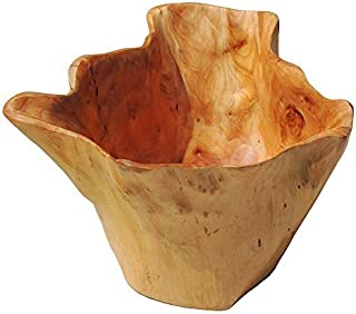 WELLAND Handmade Storage Natural Root Wooden Bowl salad bowl for food Deep Bowls