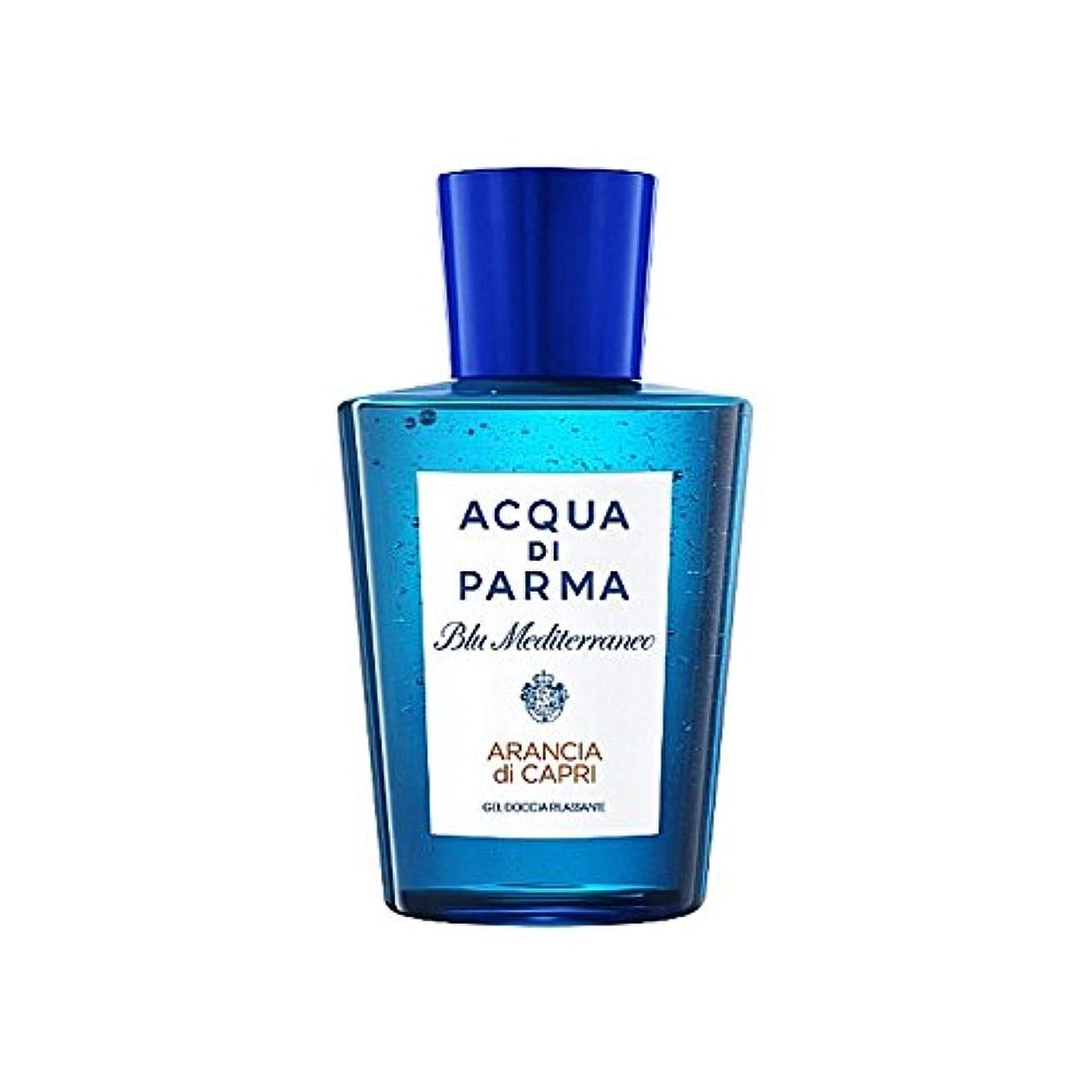 計り知れないエロチック充実アクアディパルマブルーメディのアランシアジカプリシャワージェル200 x4 - Acqua Di Parma Blu Mediterraneo Arancia Di Capri Shower Gel 200ml (Pack of 4) [並行輸入品]