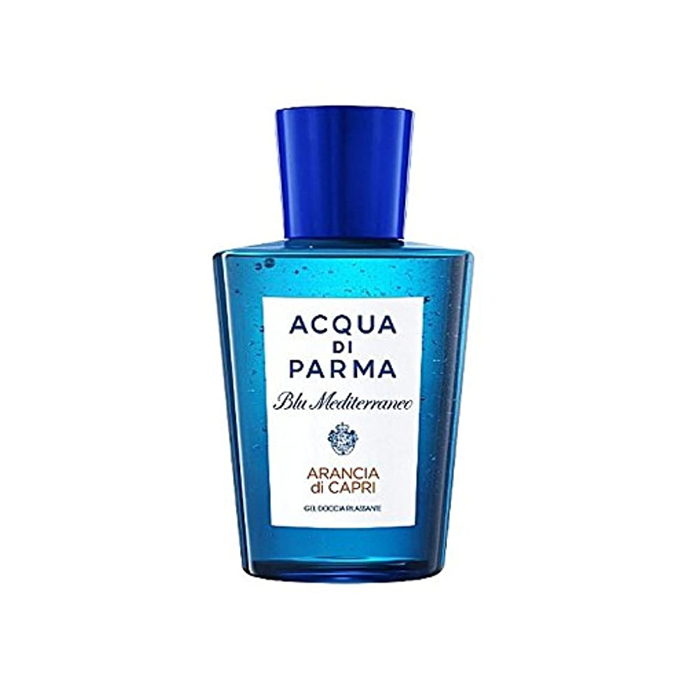 円形のエンティティ透明にAcqua Di Parma Blu Mediterraneo Arancia Di Capri Shower Gel 200ml - アクアディパルマブルーメディのアランシアジカプリシャワージェル200 [並行輸入品]
