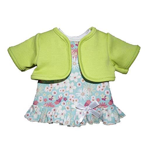Unbekannt Schwenk Puppen Kleidung Kleid mit grünem Bolero für 24 - 26 cm Puppen, Nr. 10124
