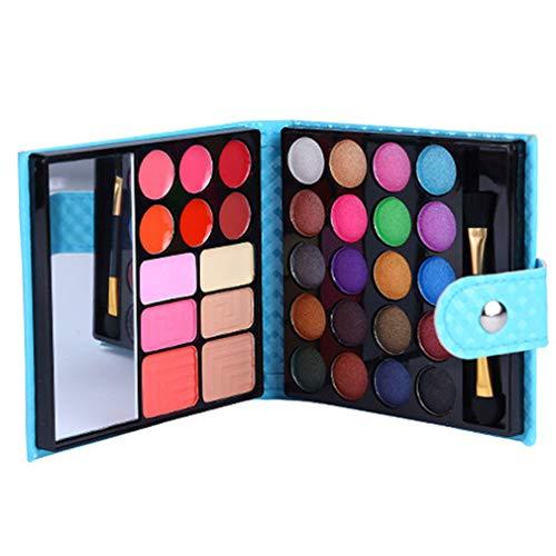 JasCherry Paleta de Sombras de Ojos 32 Colores de Estuche de Maquillaje Cosmético - Incluye Rubor y Polvos Compactos y Brillo Labios #3