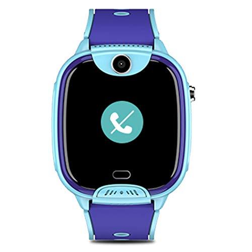 Kinder intelligente Uhren für Jungen Kinder intelligente Uhr Kinderkameras Telefon Smart Uhren WiFi Videotelefon wasserdichte Positionierung Multifunktionsuhr, geeignet für Kinder,Blau
