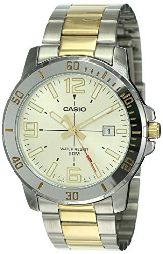 Casio Enticer Men Analog Gold Dial Men's Watch MTP-VD01SG-9BVUDF(A1736)