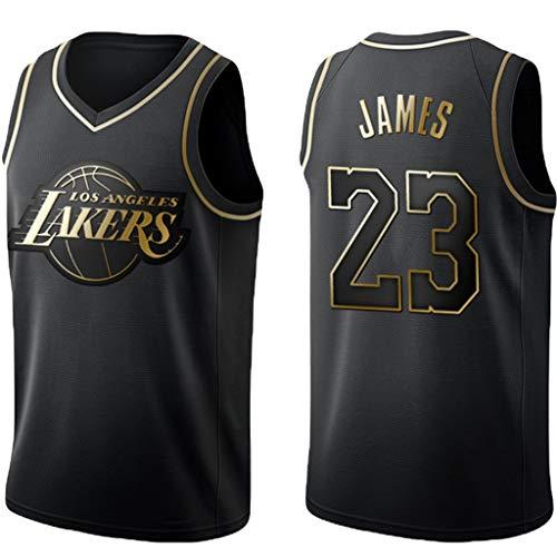 YHIU Basketbal truien voor mannen, Los Angeles Lakers Lebron James # 23 Swingman Jersey, geweldig materiaal, Unisex mouwloos T-shirt