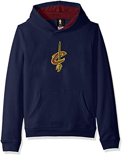 OuterStuff NBA by NBA Kids & Youth Boys Cleveland Cavaliers Prime Pullover Fleece Hoodie, Navy, Youth Small(8)