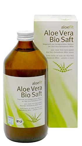Aloefit Aloe Vera Bio Saft Aloeverose Vegan 3 Flaschen Direktsaft Rainbow Aloe Vera Juice organisch natürlich… (1 x 500ml)