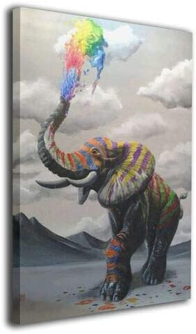 Colorful elephant paintings _image0
