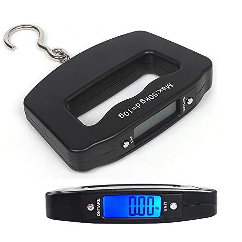Küchenwaagen Mini Hand Kunststoff aus Kunststoff 50 kg / 10 g LCD Digital Fishing Hanging Elektronische Waage Taschenhaken Gewicht Gepäckwaage