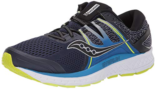 Saucony Men's Omni ISO, Navy | Blue | Citron, 11.5 D US