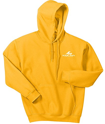 Koloa Classic 2 Side Wave Logo Hoodies-Hooded Sweatshirt-Gold-M