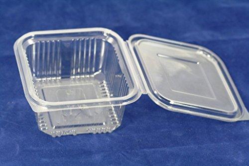 Scatole con coperchio in plastica usa e getta, da asporto, per vari alimenti, da 500ml (confezione da 70)