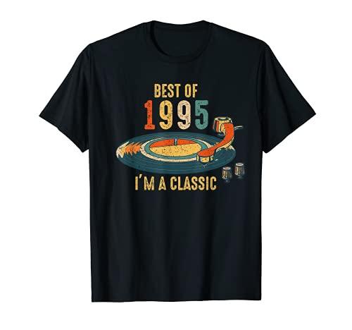 Vintage 1995 soy clásico distrito de vinilo retro de cumplea Camiseta