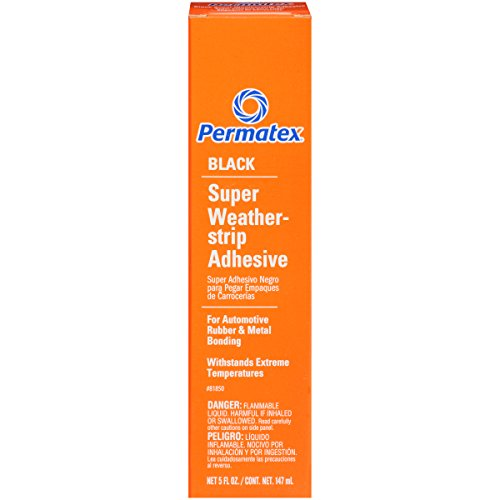Permatex 81850 Black Super Weatherstrip Adhesive, 5 oz.