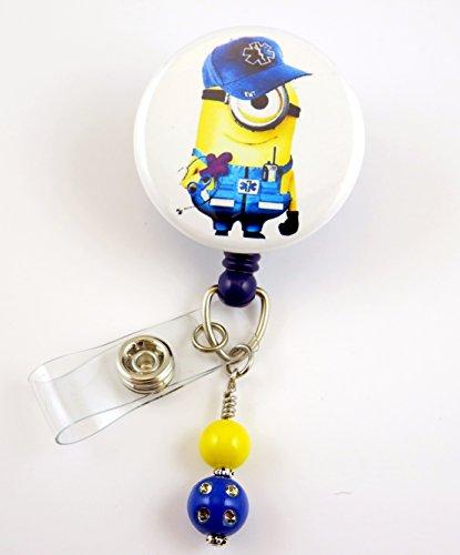 EMT Minon Inspired - Nurse Badge Reel - Retractable ID Badge Holder - Nurse Badge - Badge Clip - Badge Reels - Pediatric - RN - Name Badge Holder