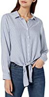 Amazon Brand - Goodthreads Women's Modal Twill Tie-Front Shirt